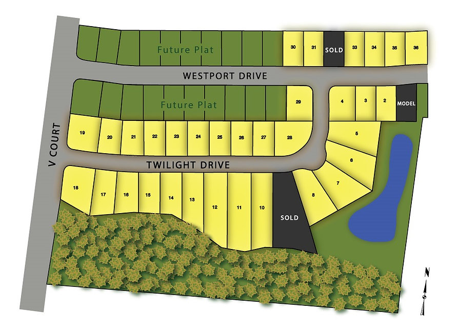 Westport Plat 2 Map - New Homes for Sale