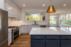 White Custom Kitchen with Large Window