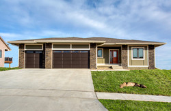 New Ranch Home with Green Exterior