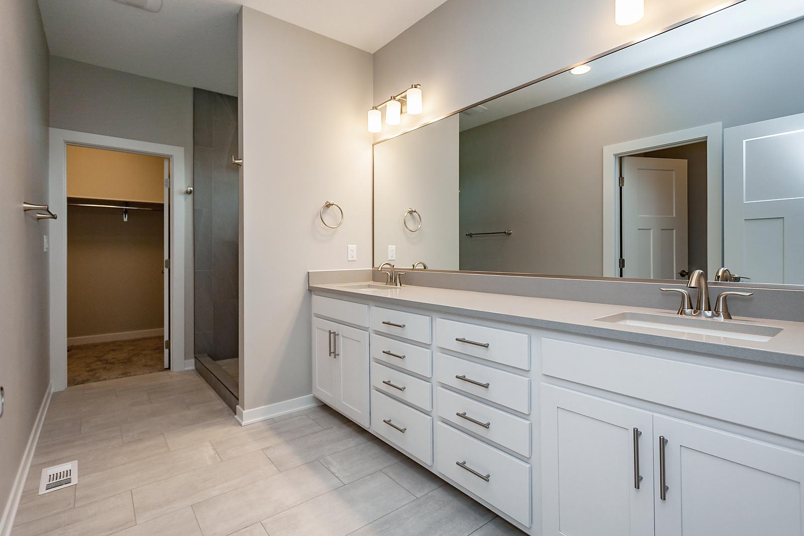 Master Bathroom with Gray Quartz