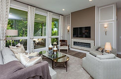 New Home with Transitional Living Room in Des Moines