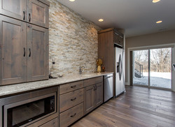Home Bar in Des Moines Luxury Custom Home