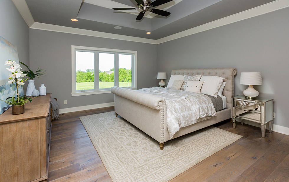 Chesterfield Bed in Master Bedroom