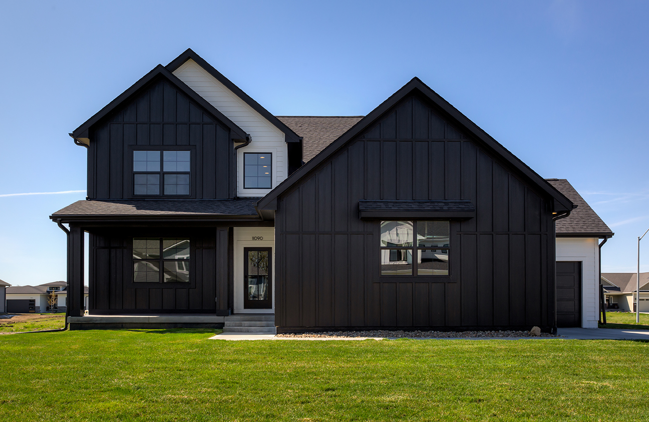 1.5 Story - Black and White Exterior Modern Farmhouse