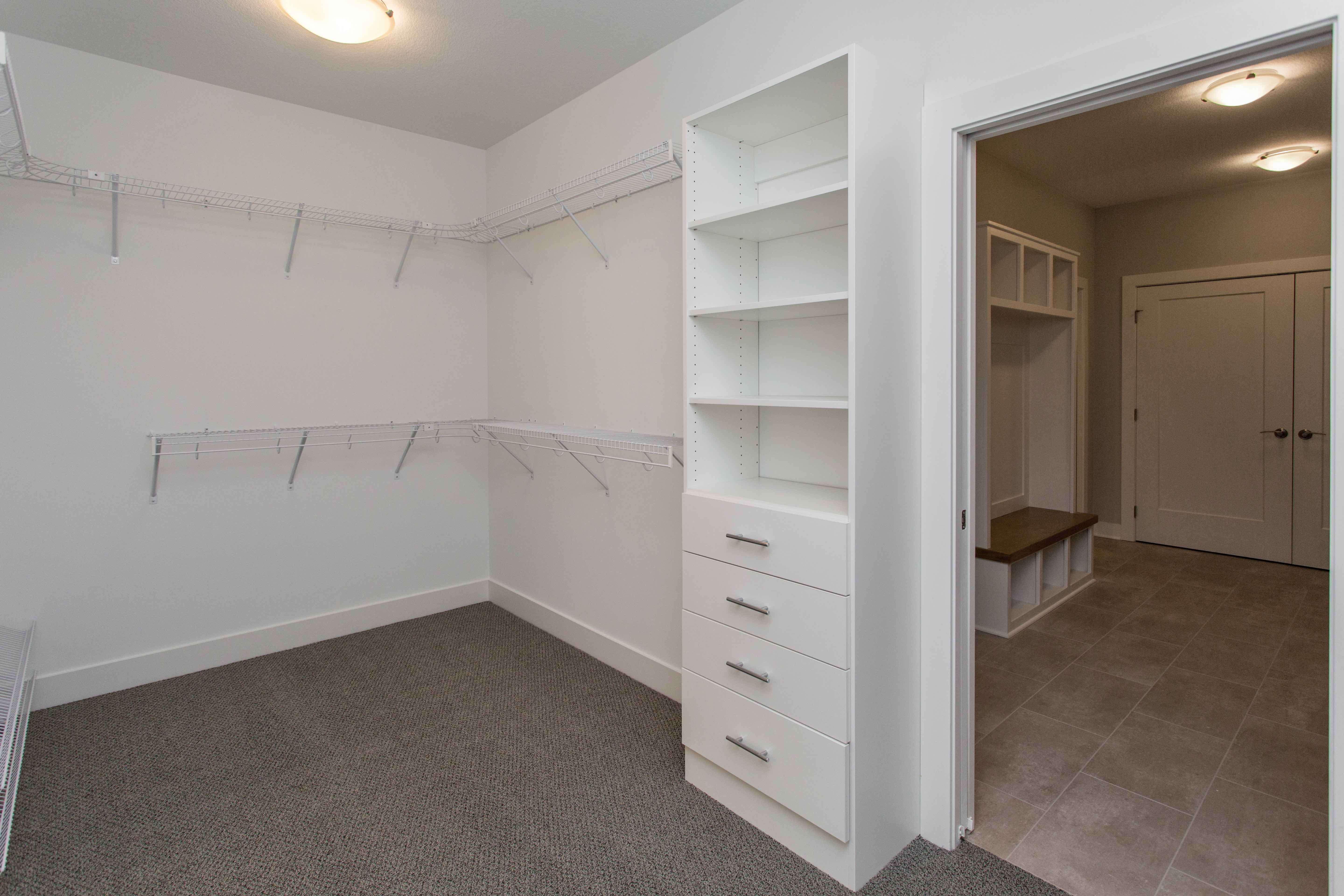Master Closet Connected to Laundry