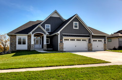 Custom Brentwood - Exterior of Custom Home in Johnston