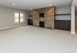 Stone Fireplace with Built Ins