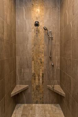Tile Shower in New Home in Altoona