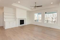 All White Living Room with White Oak Floors