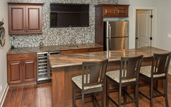 Custom Bar in Finished Basement by Best Home Builder in Des Moines