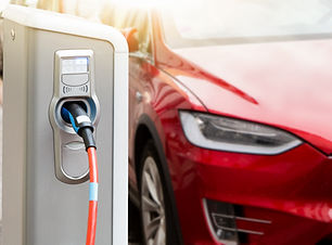 Charging station on the background of an electric car..jpg