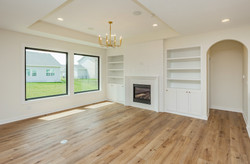 Recessed Built Ins, Painted Brick, Firep