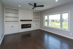 Shiplap Fireplace with Mantle