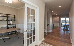 Home Office in Front Entry of New Urbandale Home