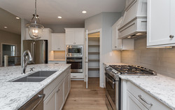White Kitchen with Gray Accents