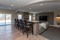 Des Moines Home Builders Basement Media Room