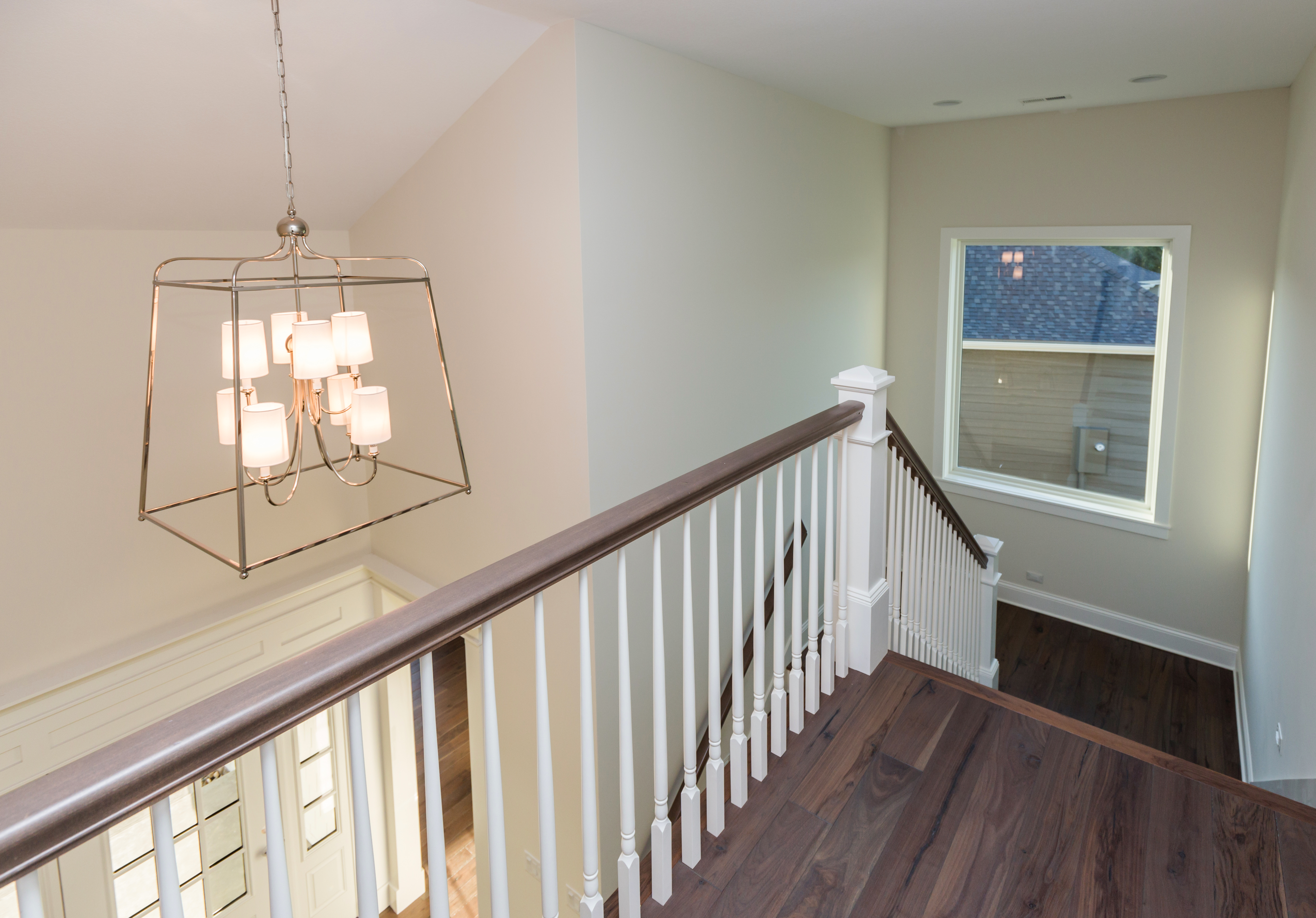 Custom Staircase with Wood Spindles