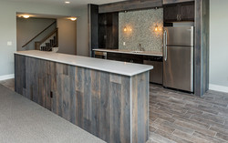 Bar with Reclaimed Wood Look