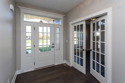 Front Entry and French Doors