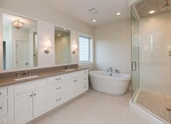 Custom Master Bath by Homebuilder