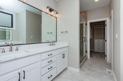 Master Bathroom - White and Warm Tones