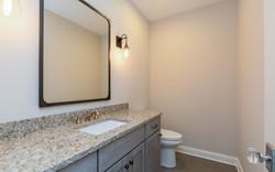 Bathroom with Restoration Hardware Mirror