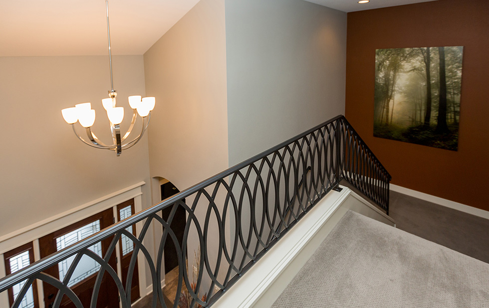 Fabricated Handrail by Des Moines Home Builders