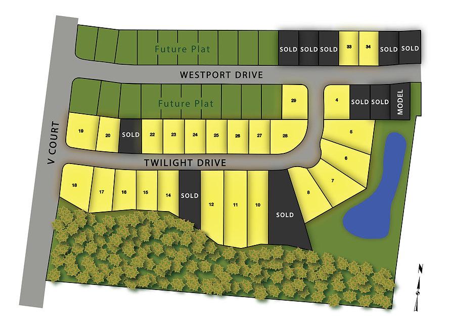 Westport Plat 2 Map, West Des Moines, Wa