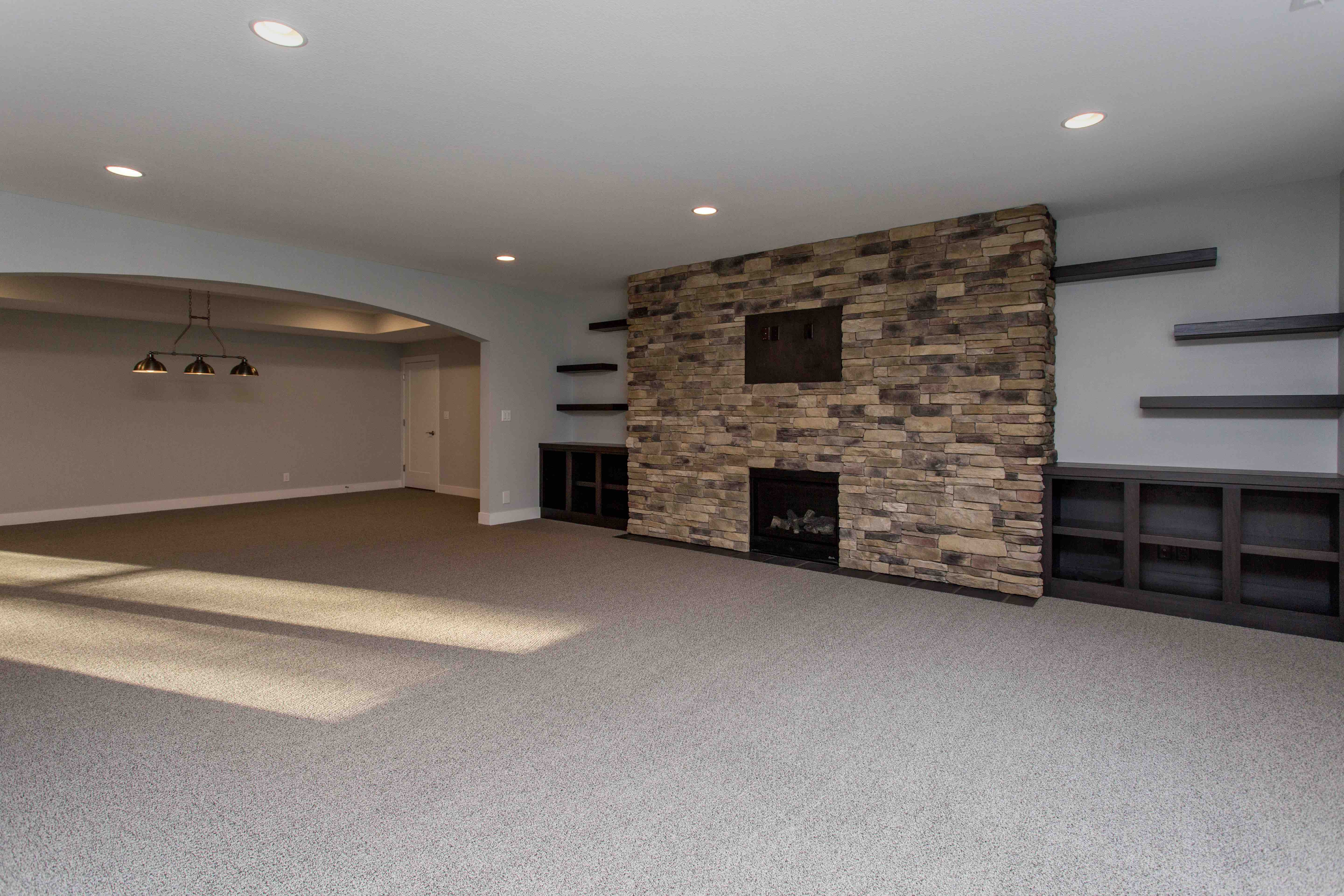 Des Moines Homebuilders Basement Media Room