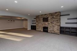 Des Moines Homebuilders Basement Media Room