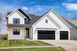 White & Black with Cedar Accents, Farmhouse - 1.5 Story Plan