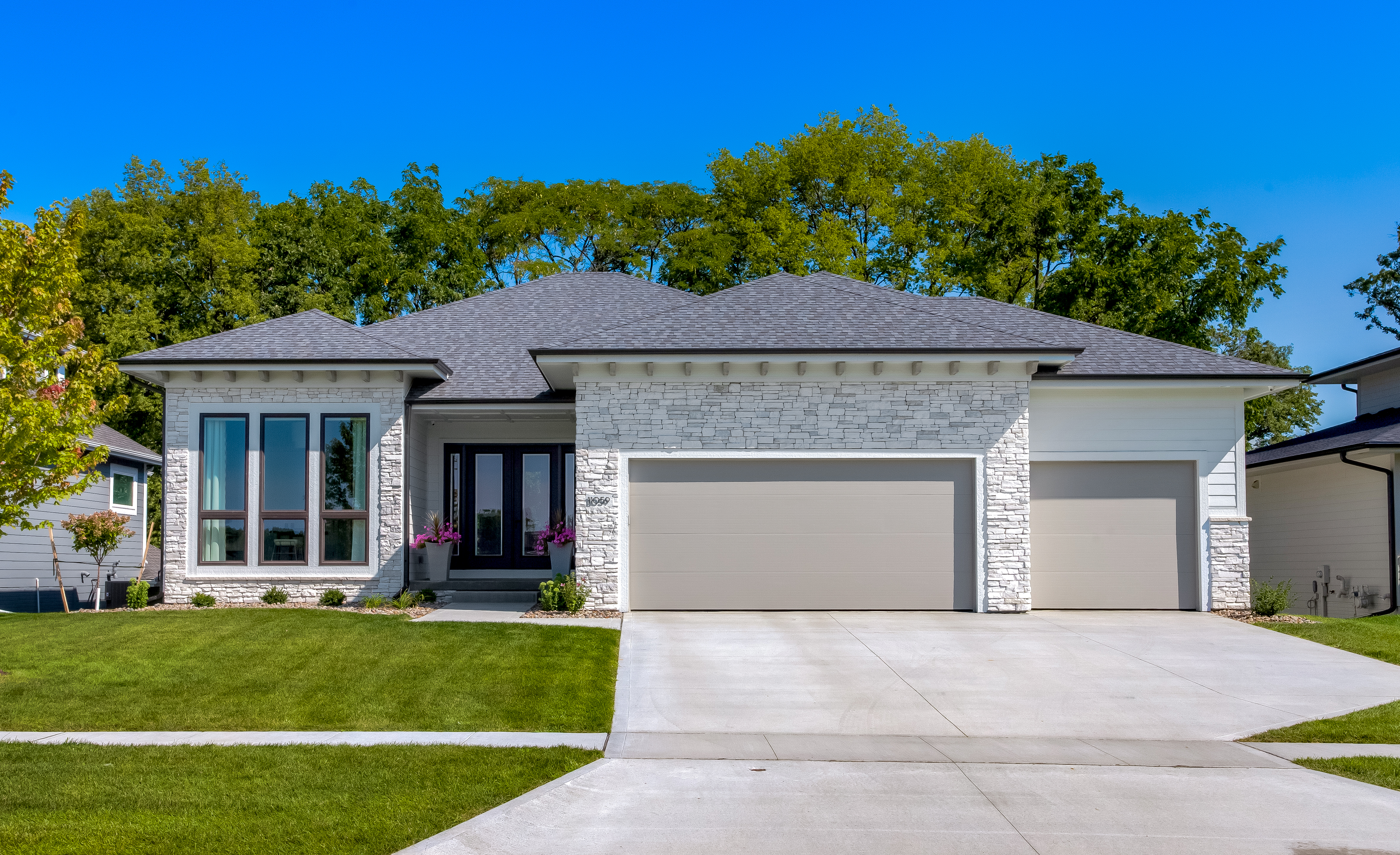 Modern White Ranch in West Des Moines