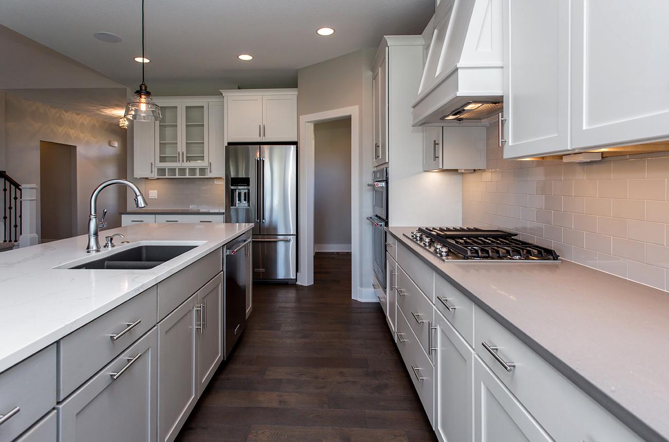 White Kitchen with Prep Area