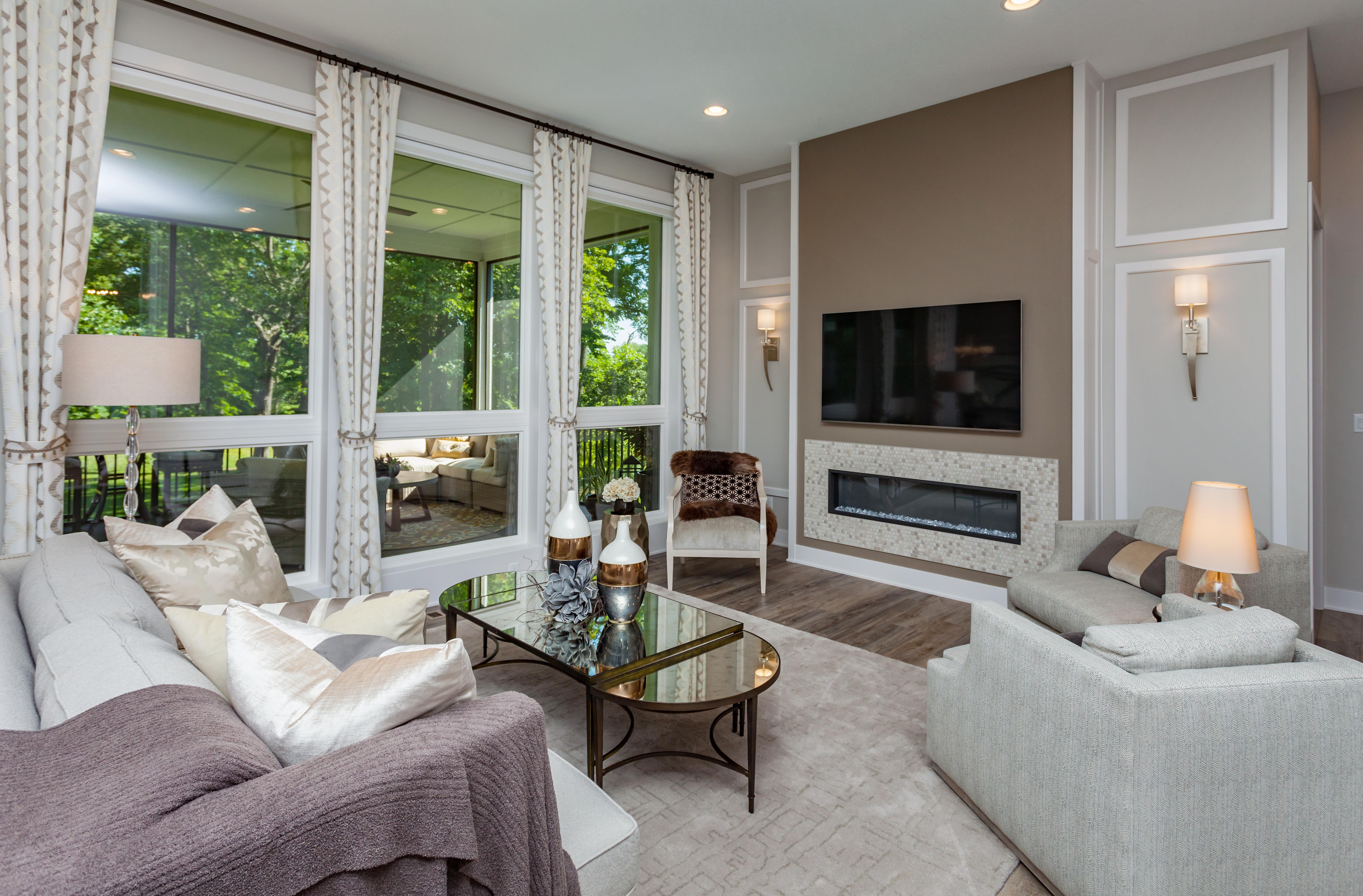 Living Room Large Windows in Waukee