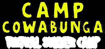 Camp Cowabunga Virtual Summer Camp Logo.