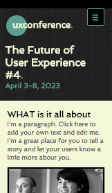 Events website templates – Tech Conference