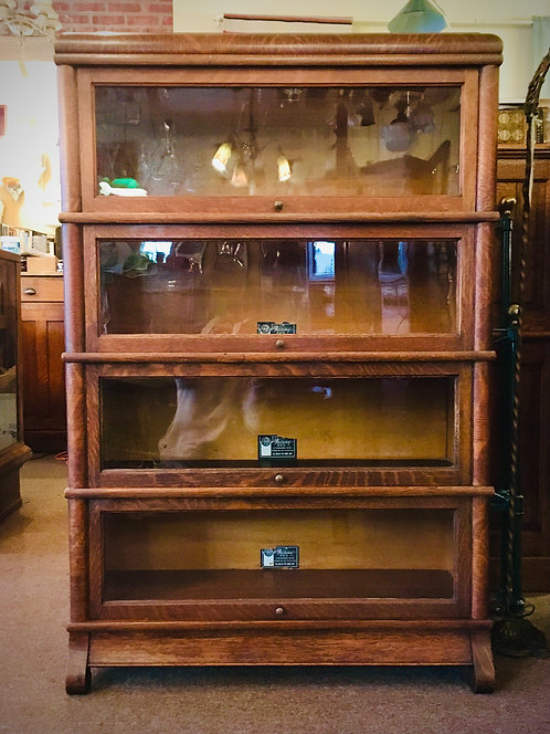 Circa 1900 Oak Stacker Bookcase