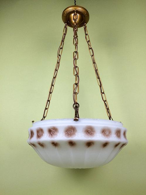 Satin Embossed Gravity Bowl light