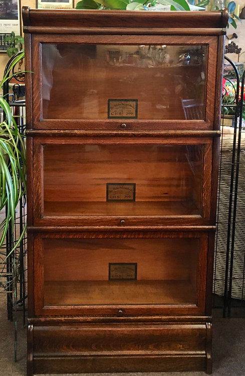 Circa 1900 3/4 Size Stacker Bookcase