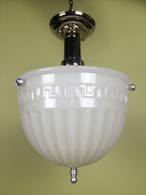 Milk Glass Bowl Light