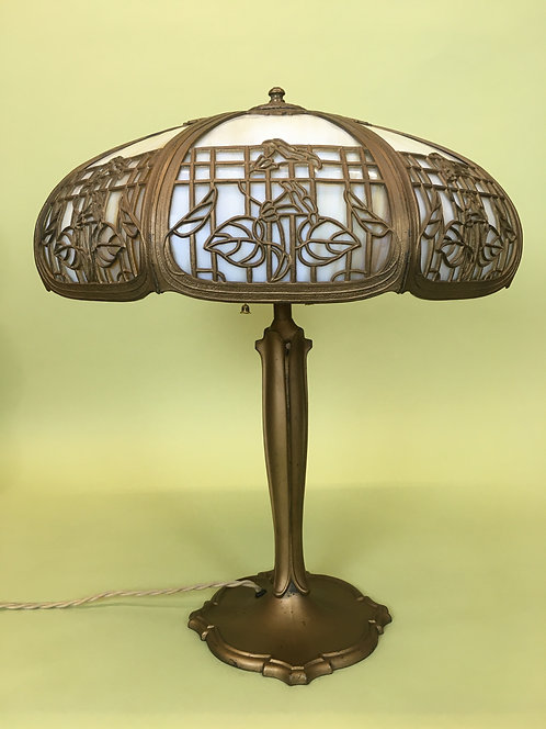 1900's Slag Glass Lamp