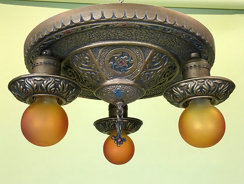 Circa 1920 Flushmount Light Fixture