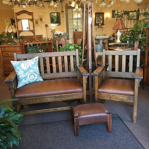 Circa 1910 Craftsman Bench and Chair
