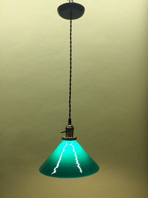 Industrial Style Green Pendant