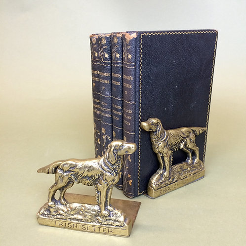 English Setter Book Ends