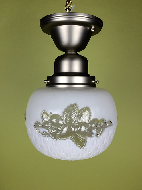 Embossed Glass Globe