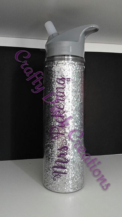 Personalized 18 oz. Glitter Water Bottle