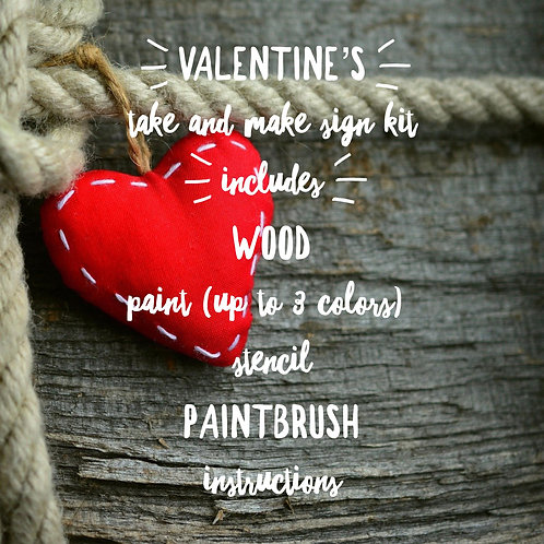 VALENTINE'S Take and Make Wood Sign Kit Designs