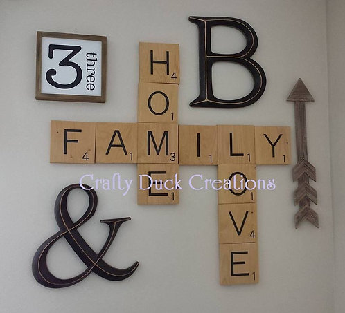 Customized Wood Scrabble Tiles