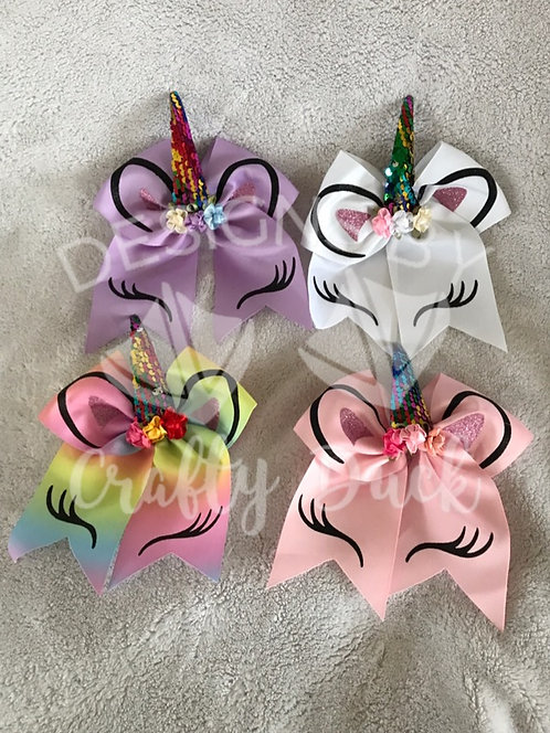 "7"" Unicorn Hair Bow"